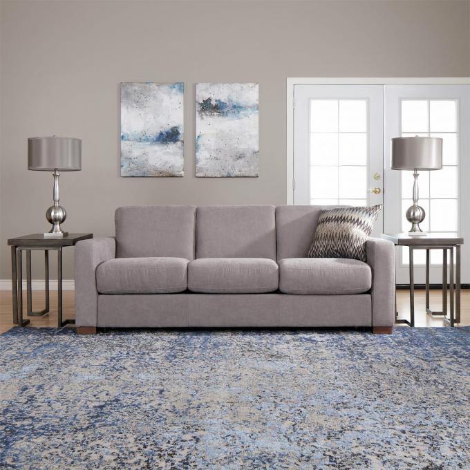 Light Grey Sleeper Sofa With Queen Mattress