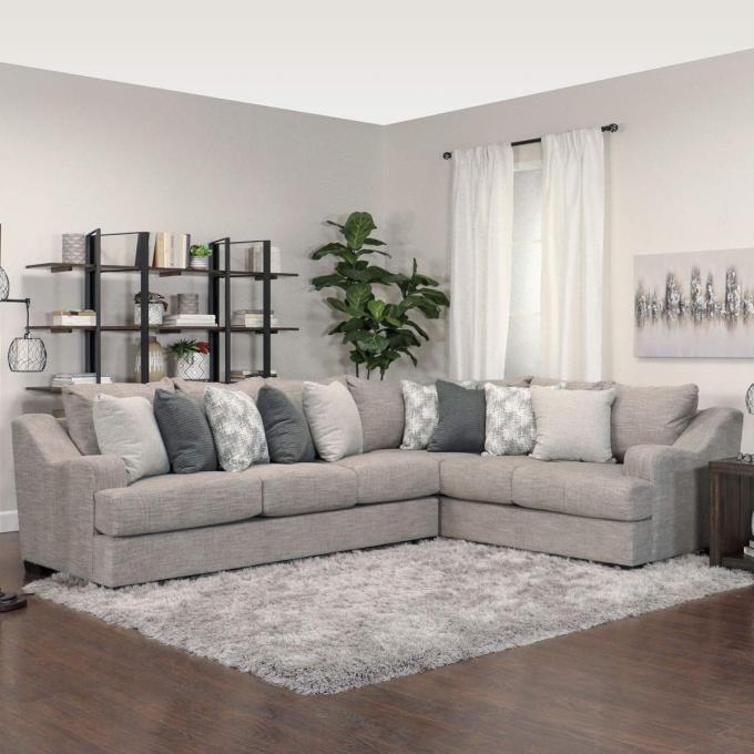 Norwalk Sectional Grey Fabric, Norwalk Furniture Reviews