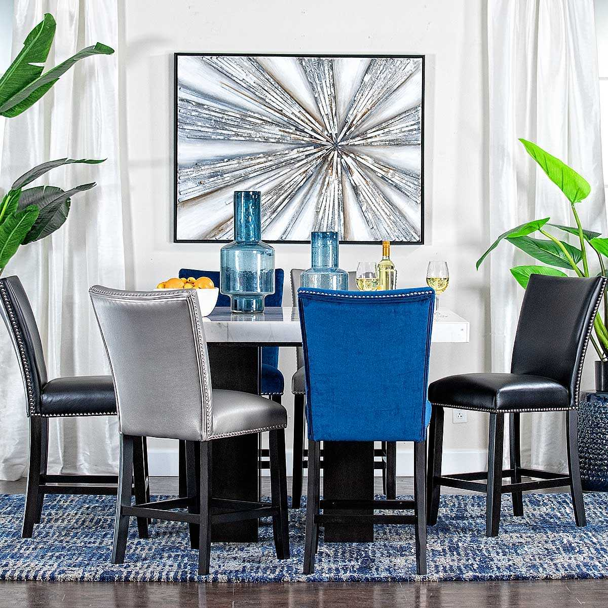 Black Counter Height Dining Set Jerome S Furniture