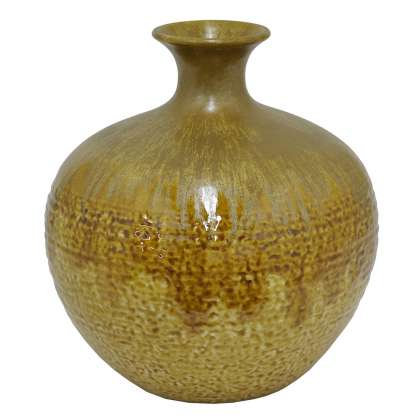 Brown Drip  - Medium Vase