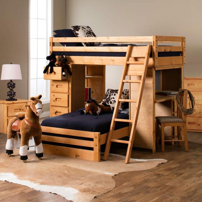 Natural Loft Bed Kids Wooden Loft Bed Jerome S