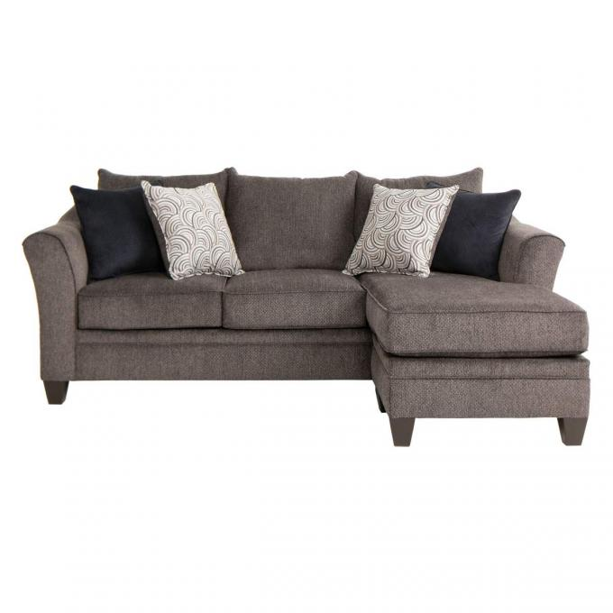 Pewter sofa simmons upholstery albany pewter loveseat free for Classic furniture new albany in