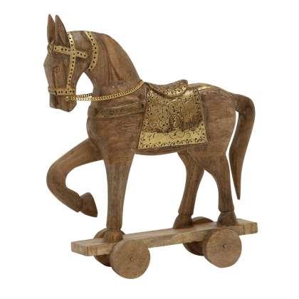 Medium Wood/Metal Horse - Statuette